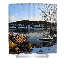 Winter Day By The Oslo Fjords, Norway.  Shower Curtain