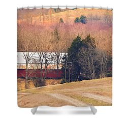 Winter Day On A Tennessee Farm Shower Curtain