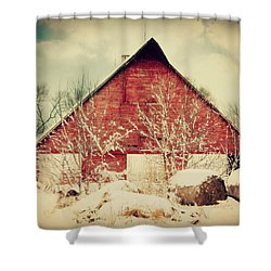 Winter Day On The Farm Shower Curtain