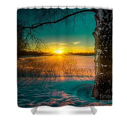 Winter Delight In British Columbia Shower Curtain by Rod Jellison