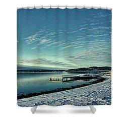 Winter Dock Shower Curtain