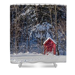 Shower Curtain featuring the photograph Winter, Down East Maine  by Trace Kittrell