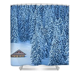 Winter Escape Shower Curtain by JR Photography