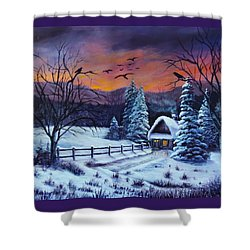 Winter Evening 2 Shower Curtain
