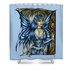 Winter Fairy Drawing Shower Curtain