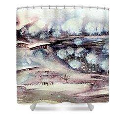 Winter Ferytale Shower Curtain