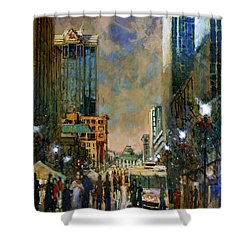 Winter Festival Evening Shower Curtain