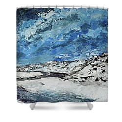 Winter Filled Arroyo Shower Curtain
