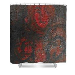 Winter Fire Shower Curtain
