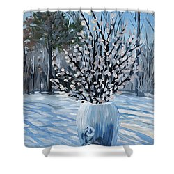 Winter Floral Shower Curtain