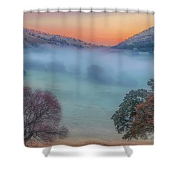 Winter Fog At Sunrise Shower Curtain