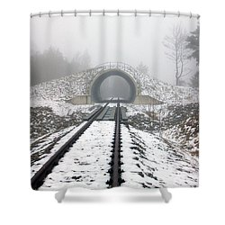 Winter Fog Shower Curtain