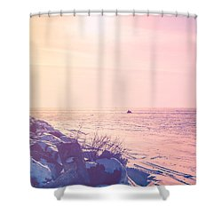 Shower Curtain featuring the photograph Winter Fun by Joel Witmeyer