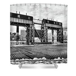 Winter Gantry Shower Curtain