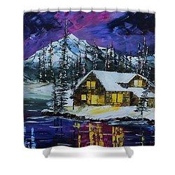 Winter Getaway Shower Curtain