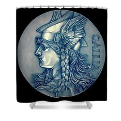 Winter Goddess Of Gaul Shower Curtain by Fred Larucci