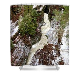Winter Gorge Shower Curtain