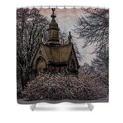 Shower Curtain featuring the digital art Winter Gothik by Chris Lord