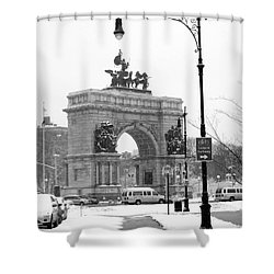 Winter Grand Army Plaza Shower Curtain