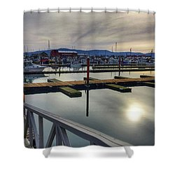 Shower Curtain featuring the photograph Winter Harbor by Chriss Pagani