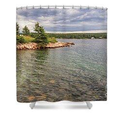 Winter Harbor  Shower Curtain