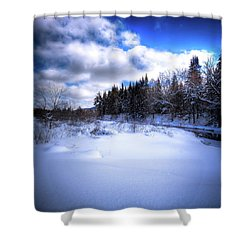 Shower Curtain featuring the photograph Winter Highlights by David Patterson