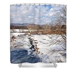 Winter Hike Shower Curtain