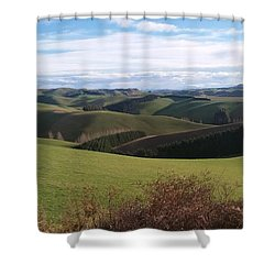 Winter Hills Shower Curtain