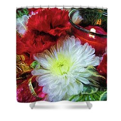 Shower Curtain featuring the photograph Winter Holiday  by Peggy Hughes
