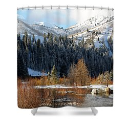 Winter I Big Cottonwood Canyon  Shower Curtain