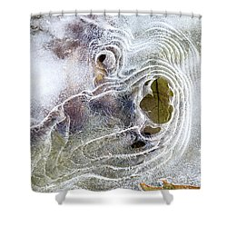 Shower Curtain featuring the photograph Winter Ice by Christina Rollo