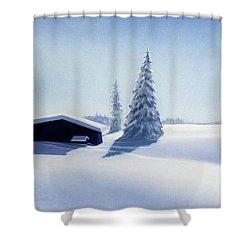 Winter In Austria Shower Curtain