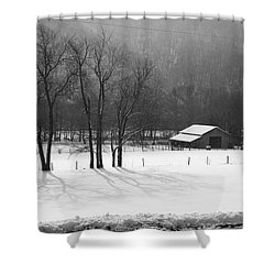Shower Curtain featuring the photograph Winter In Boxley Valley by Michael Dougherty