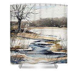 Winter In Caz Shower Curtain