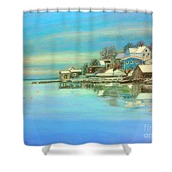 winter in Chester ,Nova Scotia  Shower Curtain by Rae  Smith PAC