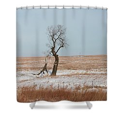 Winter In Kansas Shower Curtain
