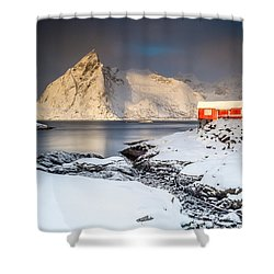 Winter In Lofoten Shower Curtain