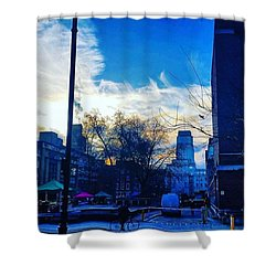 Winter In London Shower Curtain