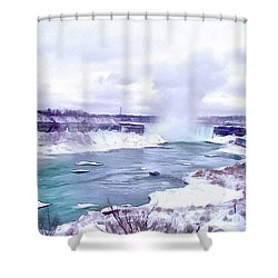 Winter In Niagara 1 Shower Curtain