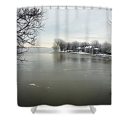 Winter In Quebec Shower Curtain