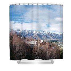 Winter In Queenstown Shower Curtain