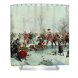 Winter In Saint James's Park Shower Curtain by John Ritchie