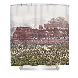 Winter In Sedona Shower Curtain