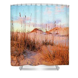 Winter In South Walton Shower Curtain