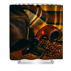 Winter In The Air Shower Curtain