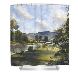 Winter In The Bellinger Valley Shower Curtain