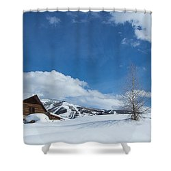 Winter In The Rockies Shower Curtain