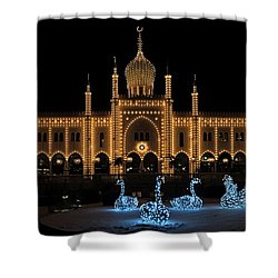 Winter In Tivoli Gardens Shower Curtain by Inge Riis McDonald