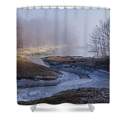 Winter Inlet Shower Curtain by Tom Singleton