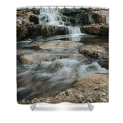Winter Inthe Falls Shower Curtain by Iris Greenwell